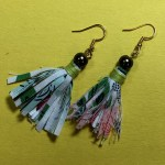Fabric Fringe Earrings Tutorial