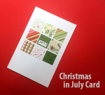 Making a Christmas Card in July