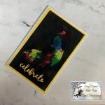 A Joseph's Coat Peacock Card