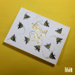 Stamping a Card with Fireflies