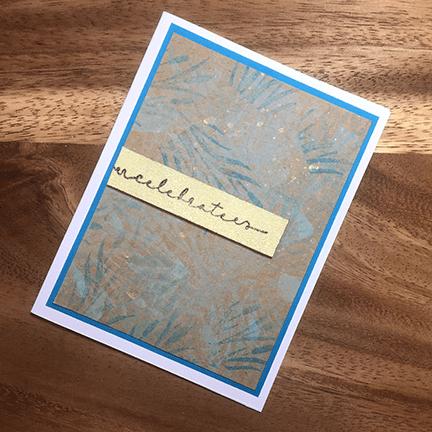 finished fairy stamper card