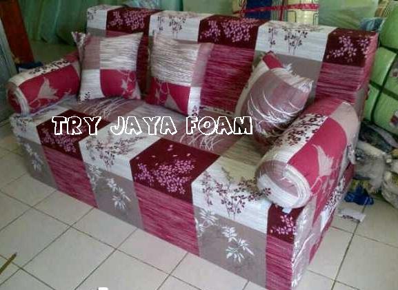 harga cover sofa bed inoac rooms with brown leather sofas daftar try jaya foam toko kasur busa