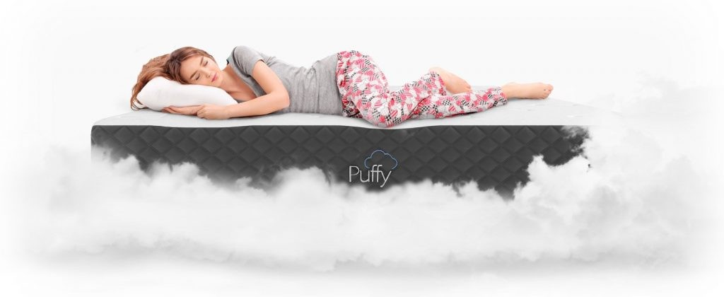 Try Any Mattress of Your Choice RISK-FREE @ Home W/ Free Delivery puffy-sleeping-1024x420 Puffy Lux Mattress Review ($300 off + free pillow)