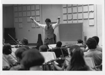 Michael Tilson Thomas guest conducts TRYPO, January 1986