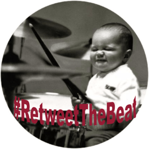 a baby playing drums!