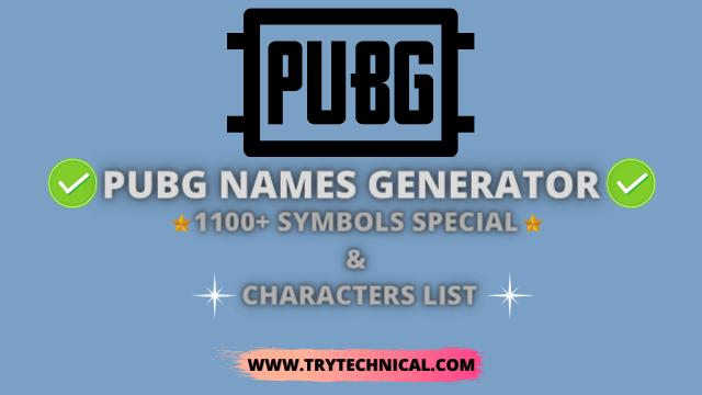 PUBG Names