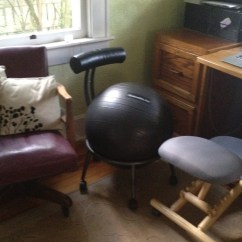 Office Chair Good Posture Santa Chairs For Rent Improve Your Desk With A Tennis Ball?? | Try Thai Yoga Massage & More