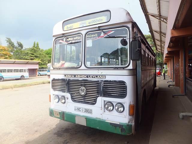 コロンボ空港近くバスステーションからネゴンボへ行くバス