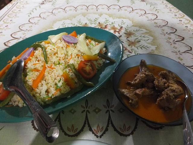 ダンブッラの宿で食べた夕食:スリランカ