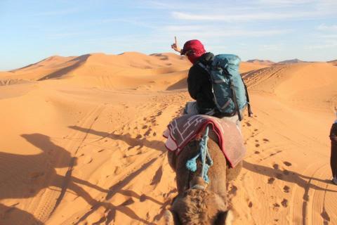念願のサハラ砂漠にて!