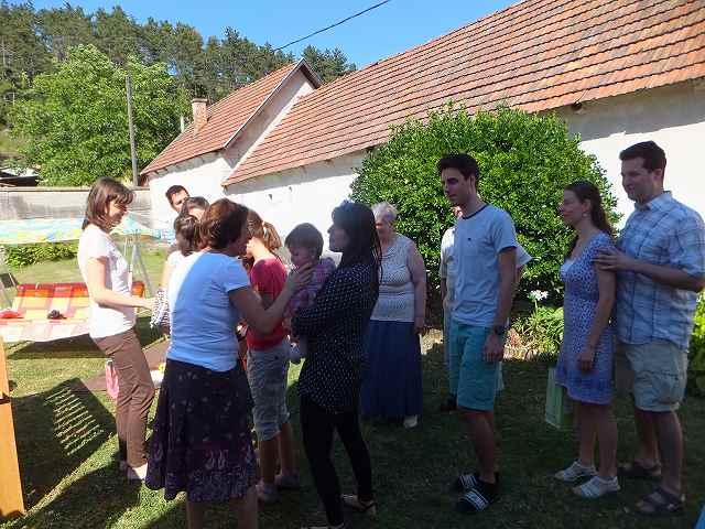 ハンガリーの名前の誕生日パーティー