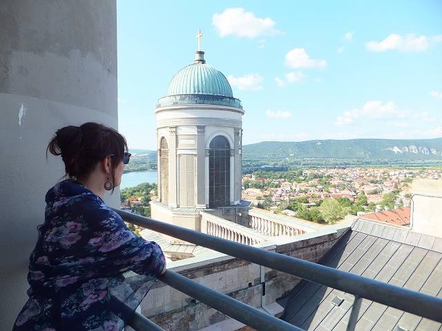 エステルゴム大聖堂の上に上ってみました
