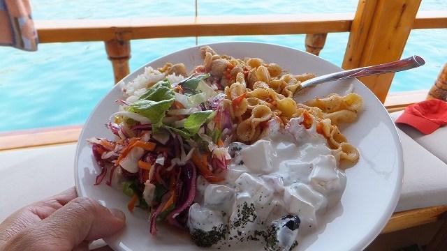地中海クルーズで食べたランチ