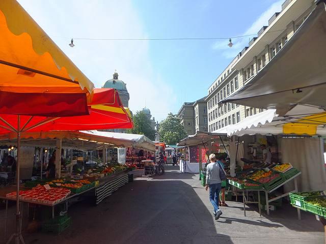 ベルン旧市街でやっていたマーケット