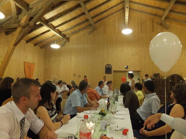 ゴッドファーザー、マザーの挨拶:スイス結婚披露宴