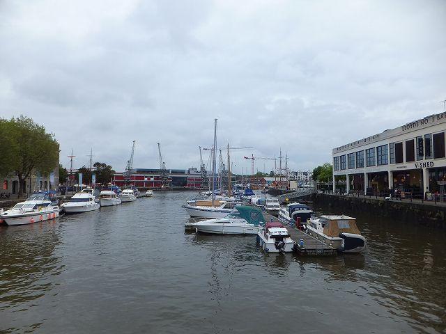 イギリス、ブリストルの港の風景