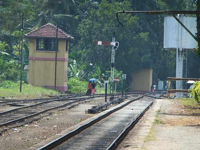 のんびり線路の上を歩いていくご婦人方:スリランカ旅行記