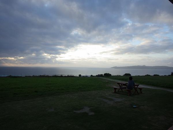 ミルミル本舗からの夕日の景色:石垣島