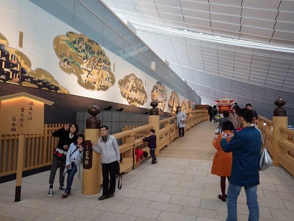 羽田空港国際線ターミナルにある日本橋