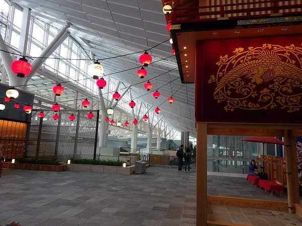 ちょっとした祭のスペース?羽田空港国際線ターミナル