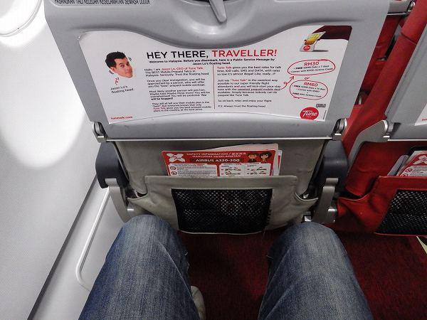 エアアジアの機内:乗り心地