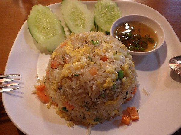 タイのチャーハンが美味しい!