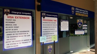 チェンマイ:イミグレーションセンター30日滞在延長申請へ
