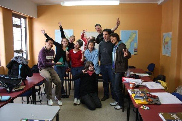 ニュージーランドの語学学校での写真