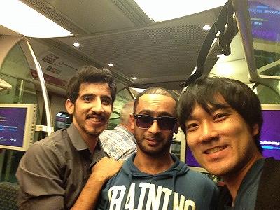 電車の中でちょっとだけ仲良くなったオマーン人