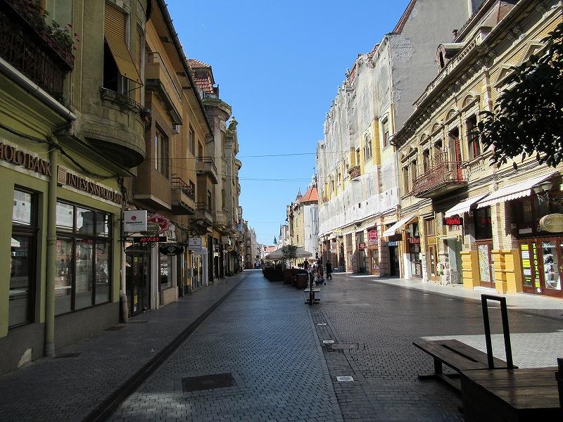 ルーマニアオラデアで一番のメインストリート