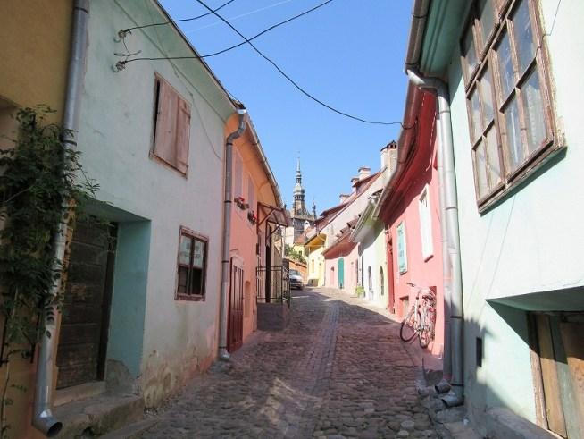 ルーマニア:シギショアラ旧市街の町並み