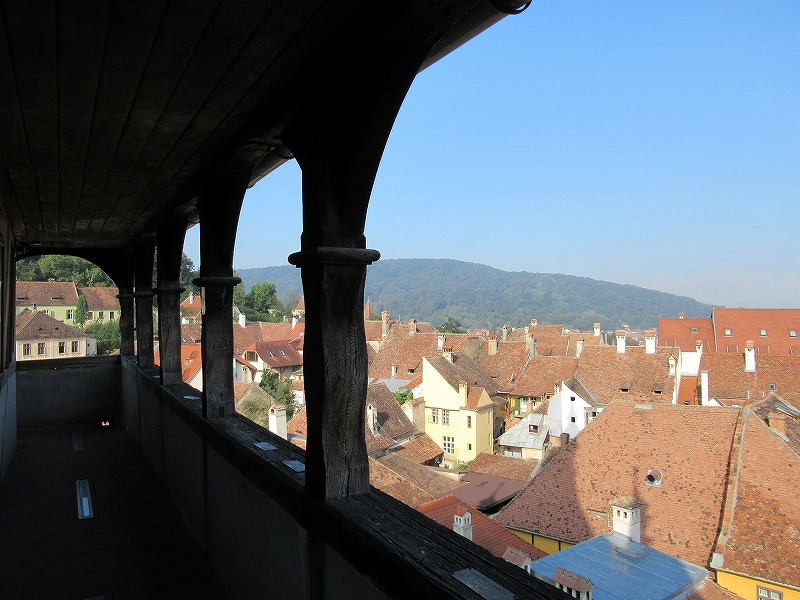 シギショアラ旧市街時計台からの景色:ルーマニア旅行