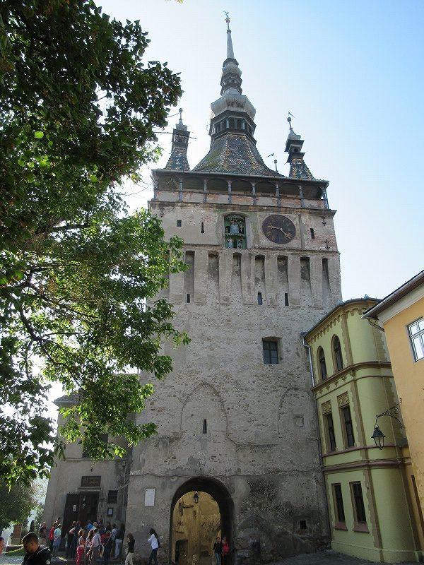 シギショアラ旧市街時計台:ルーマニア旅行
