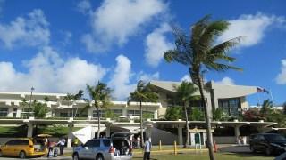 グアム国際空港の様子・空がキレイ!