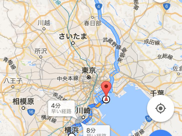 東京ゲートブリッジを抜けて横浜から埼玉へ