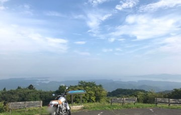 田束山山頂からの景色:バイクで行った