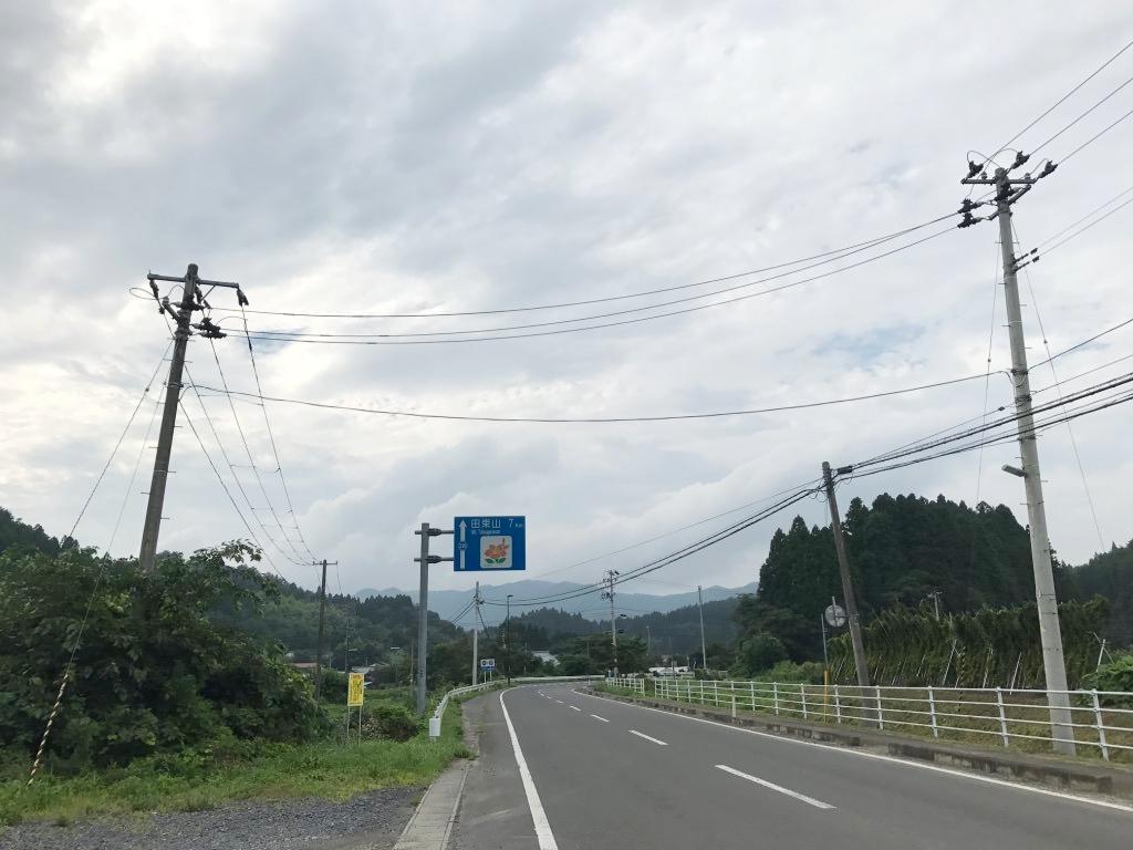 田束山さんへ行く道:歌津方面から