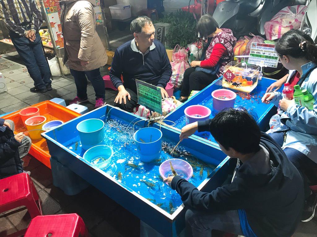 海老すくい:台湾ナイトマーケット