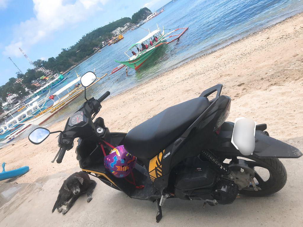バイクを借りました!プエルトガレラ