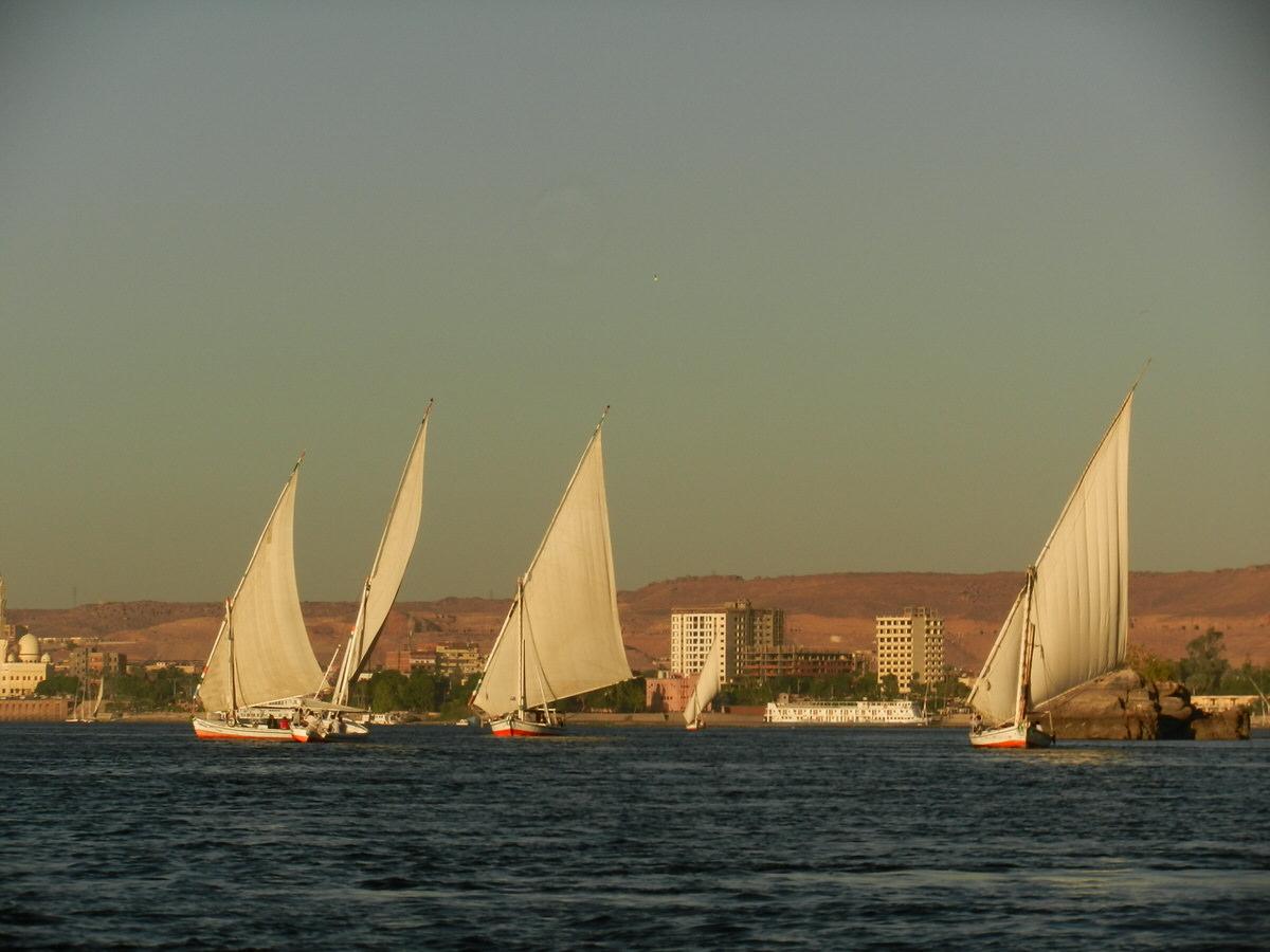 エジプト・アスワン旅行・舟で落ちる7