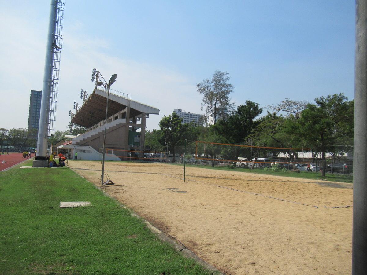 ビーチバレーコート:カセサート大学校内の様子・雰囲気