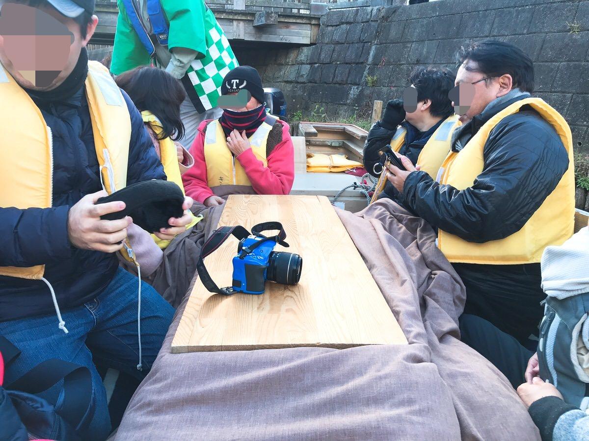 佐原・鹿島神宮旅行14:小舟にはこたつも付いている