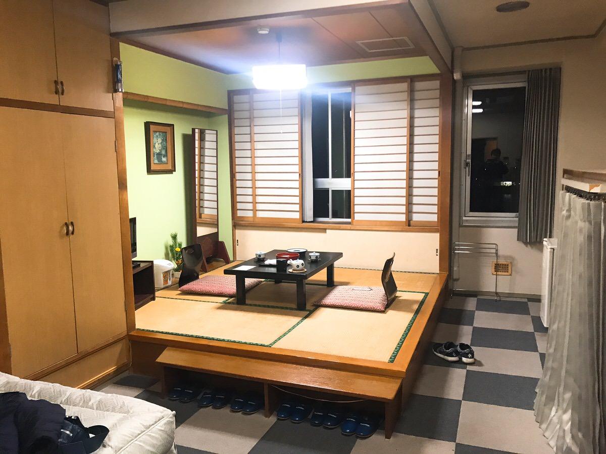 佐原・鹿島神宮旅行21:潮来ホテルの部屋の様子