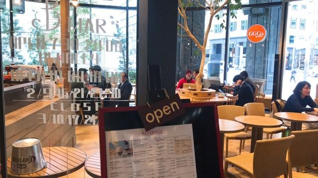 開放感ある内装・コートヤードマリオット東京・カフェGGCo3