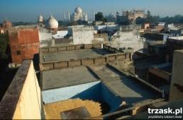 Panorama miasta, na horyzoncie Taj Mahal, Agra