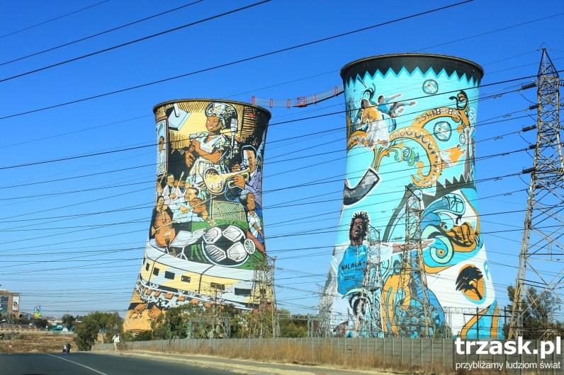 Kominy w SOWETO, Johannesburg Republika Południowej Afryki
