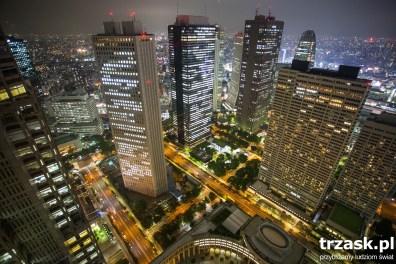 Tokyo po zachodzie Słońca