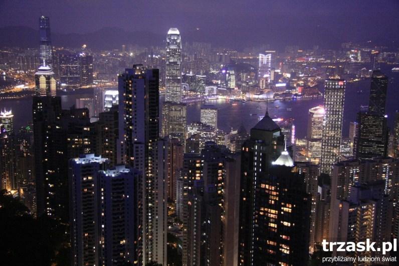 Panorama Hong Kongu z Victoria Peak,