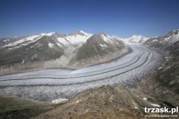 Aletsch, najdłuższy lodowiec Szwajcaria