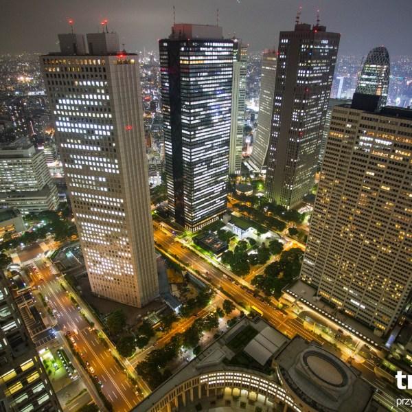 Tokio nocą Japonia